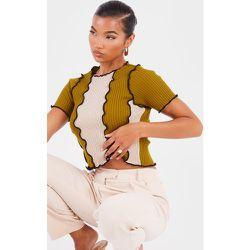 Top en maille tricot style colour block à coutures contrastantes - PrettyLittleThing - Modalova