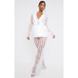 Pantalon jambes évasées transparent en dentelle - PrettyLittleThing - Modalova