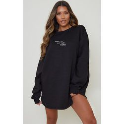 Robe sweat oversize à coutures contrastantes - PrettyLittleThing - Modalova