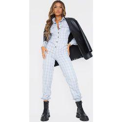 Combinaison style chemise à carreaux et poches - PrettyLittleThing - Modalova