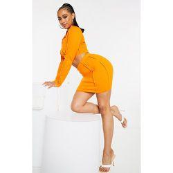 Mini jupe côtelée à coutures surjetées - PrettyLittleThing - Modalova