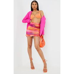 Mini-jupe slinky dégradé froncée et volantée - PrettyLittleThing - Modalova