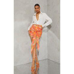 Mini-jupe en maille tissée imprimé dégradé à nouer devant - PrettyLittleThing - Modalova