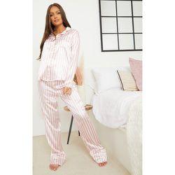 PLT Maternité - Pantalon de pyjama ample à rayures - PrettyLittleThing - Modalova