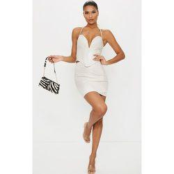 Mini-jupe en similicuir à coutures - PrettyLittleThing - Modalova