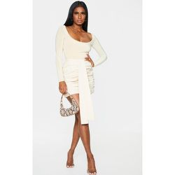 Mini-jupe en maille tissée froncée - PrettyLittleThing - Modalova