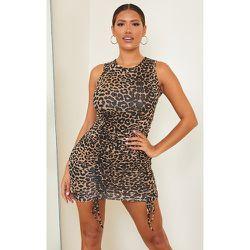 Shape - Robe moulante sans manches en jersey léopard à jupe froncée - PrettyLittleThing - Modalova