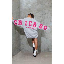 Robe pull en sweat à slogan Chicago Illinois - PrettyLittleThing - Modalova