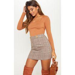 Mini-jupe imprimé carreaux à boutonner - PrettyLittleThing - Modalova