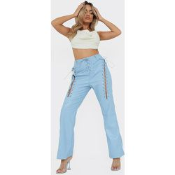 Petite - Pantalon en similicuir à lacets - PrettyLittleThing - Modalova