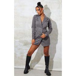 Robe blazer en maille à coutures et boutons - PrettyLittleThing - Modalova