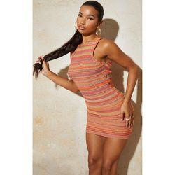 Mini-robe en maille tricot contrasté et dos nageur - PrettyLittleThing - Modalova