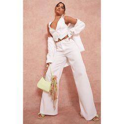 Pantalon de tailleur en maille tissée à doubles passants - PrettyLittleThing - Modalova