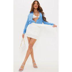 Mini-jupe en maille à devant drapé - PrettyLittleThing - Modalova