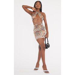 Tall - Mini-jupe slinky imprimé abstrait à taille froncée - PrettyLittleThing - Modalova