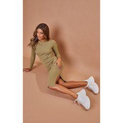 PLT Recycle - Robe mi-longue moulante en maille tricot côtelée - PrettyLittleThing - Modalova