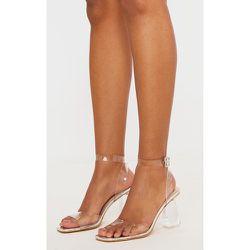 Sandales transparentes à talon bloc conique et bride cheville - PrettyLittleThing - Modalova