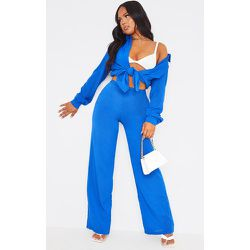 Pantalon ample bleu, Bleu - PrettyLittleThing - Modalova