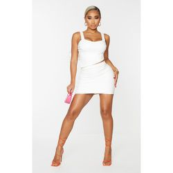 Shape - Jupe moulante en similicuir à détail coutures - PrettyLittleThing - Modalova