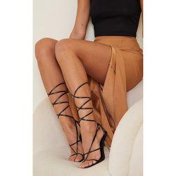 Sandales en similicuir à brides style tong et talon transparent - PrettyLittleThing - Modalova