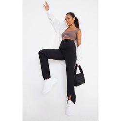 Pantalon droit en maille à ourlets fendus - PrettyLittleThing - Modalova