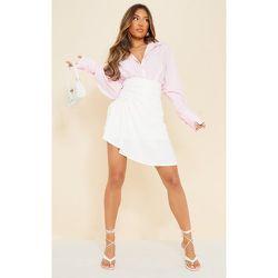 Mini jupe tissée à devant drapé et fronces - PrettyLittleThing - Modalova