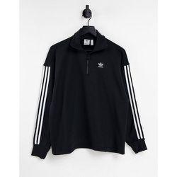 Adicolor - Sweat-shirt à fermeture éclair partielle et logo trois bandes - adidas Originals - Modalova