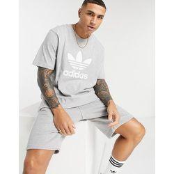 Adicolor - T-shirt à grand logo - chiné - adidas Originals - Modalova