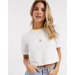 T-shirt court à logo trèfle -Blanc et - adidas Originals - Modalova