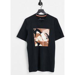 Adidas - T-shirt avec logo camouflage encadré - adidas performance - Modalova