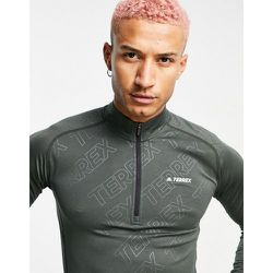 Adidas - Terrex Trace - Sweat-shirt à demi-fermeture éclair - Kaki - adidas performance - Modalova
