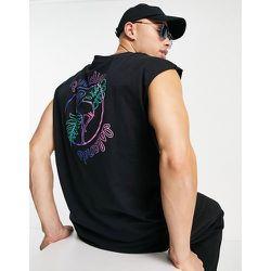 Débardeur style t-shirt sans manches avec imprimé Paradise au dos - Another Influence - Modalova