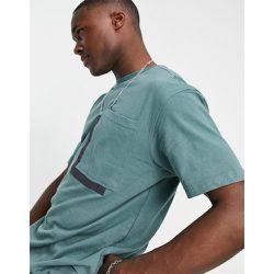 T-shirt coupe carrée oversize à poche - Bleu sarcelle - Another Influence - Modalova