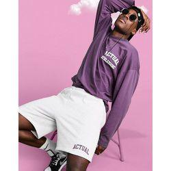 Athleisure - T-shirt oversize à manches longues avec logo imprimé devant et au dos - ASOS Actual - Modalova