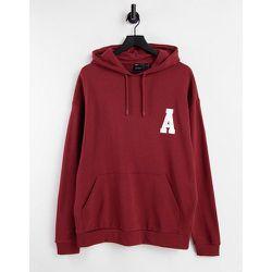 Hoodie oversize avec imprimé logo style universitaire - Bordeaux - ASOS Actual - Modalova
