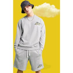 Sweat-shirt oversize avec imprimé citron sur le devant - chiné - ASOS Actual - Modalova