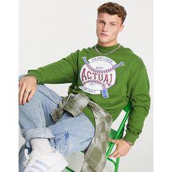 ASOS - Actual - Sweat-shirt oversize avec imprimé softball vintage - ASOS Actual - Modalova