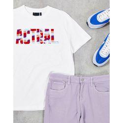 ASOS - Actual - T-shirt à logo floqué coloré - ASOS Actual - Modalova