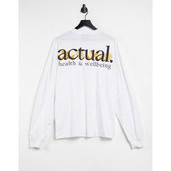 ASOS - Actual - T-shirt oversize à manches longues imprimé dans le dos - ASOS Actual - Modalova