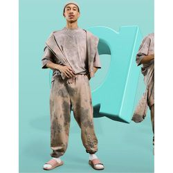 Jogger oversize d'ensemble à logo imprimé - délavé - ASOS Dark Future - Modalova