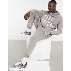 Jogger oversize d'ensemble avec logo - gris délavé - ASOS Dark Future - Modalova