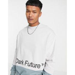ASOS - Dark Future - Sweat-shirt d'ensemble oversize effet coupé-cousu à imprimé logo - ASOS Dark Future - Modalova