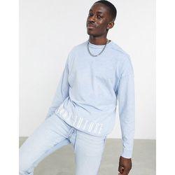 T-shirt oversize à manches longues et ourlet à cordon de serrage - délavé - ASOS Dark Future - Modalova