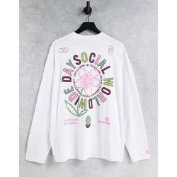 ASOS - Daysocial - T-shirt à manches longues oversize imprimé avec imprimé logo au dos - ASOS Day Social - Modalova