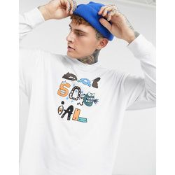 ASOS - Daysocial - T-shirt manches longues oversize imprimé devant - ASOS Day Social - Modalova
