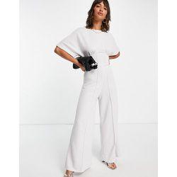 Combinaison large style corset en jersey - Gris pâle - ASOS DESIGN - Modalova