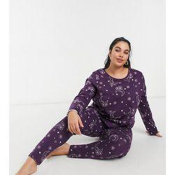 ASOS DESIGN Curve - Exclusivité - Mix & Match - T-shirt de pyjama à manches longues et imprimé tarot - ASOS Curve - Modalova