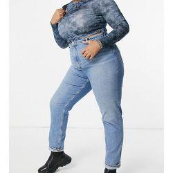 ASOS DESIGN Curve - Farleigh - Jean mom slim taille haute délavé - ASOS Curve - Modalova
