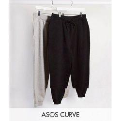 ASOS DESIGN Curve - Lot de 2 joggers basiques avec liens - ECONOMIE - ASOS Curve - Modalova