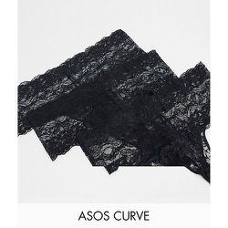 ASOS DESIGN Curve - Lot de 3 strings en dentelle - ASOS Curve - Modalova